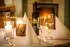 Ein Restaurant oder anderes Speiselokal in der Unterkunft Pension Aaron am See