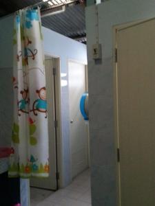 A bathroom at JJ. Home