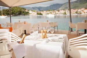 Een restaurant of ander eetgelegenheid bij Hotel Croatia