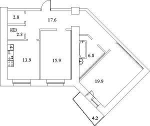Планировка Апартаменты на Есенина