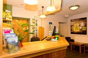 The lobby or reception area at YHA Snowdon Pen-y-Pass