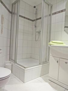 Ein Badezimmer in der Unterkunft Hotel Roseneck