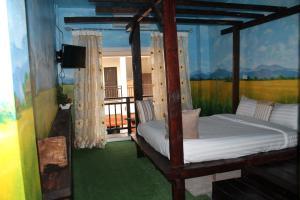 Cama o camas de una habitación en Huen Chan Thip