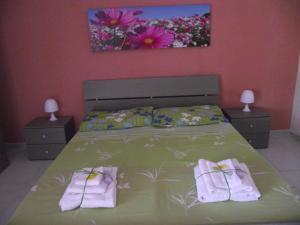 Letto o letti in una camera di Casa Vacanza Olanda