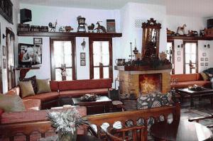 Χώρος καθιστικού στο Ξενοδοχείο Πέτρινο
