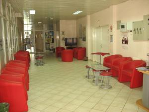 The lobby or reception area at Guest House Regionalni Centar Nis