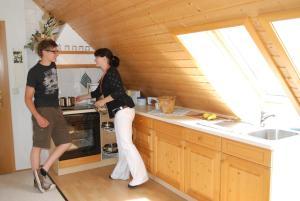 Küche/Küchenzeile in der Unterkunft Ferienwohnung Panorama