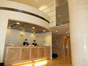 The lobby or reception area at Kobe Luminous Hotel