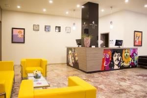 The lobby or reception area at Hotel Celeia