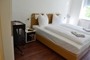 Ein Bett oder Betten in einem Zimmer der Unterkunft Ferienwohnung Rockside