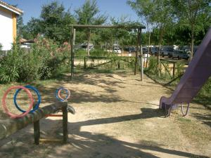 Children's play area at Camping La Aldea