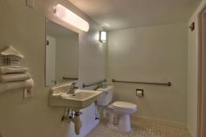 A bathroom at Motel 6-West Sacramento, CA
