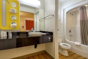 A bathroom at Motel 6-San Dimas, CA - Los Angeles