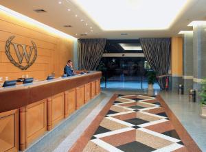 O saguão ou recepção de Windsor Guanabara