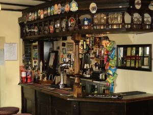 The lounge or bar area at Ostler Inn