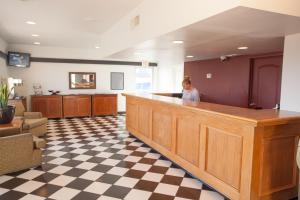 The lobby or reception area at Aviation Inn