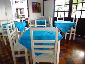 A restaurant or other place to eat at Pousada Estrela do Mar