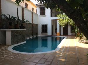 The swimming pool at or near Meson de Santiago