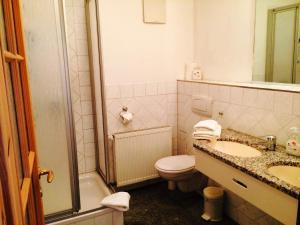 Ein Badezimmer in der Unterkunft Pension an der Havelbucht