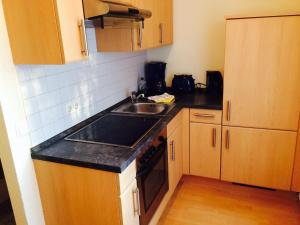 Küche/Küchenzeile in der Unterkunft Pension an der Havelbucht