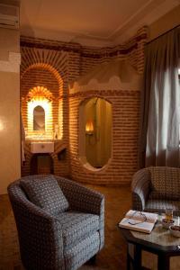 Coin salon dans l'établissement Riad Les Bougainvilliers