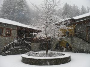 Kerasies Guesthouse during the winter