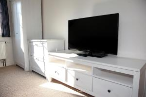 TV a/nebo společenská místnost v ubytování Penzion Pod lesem
