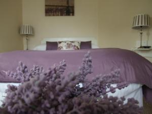 A bed or beds in a room at Oaklodge B&B