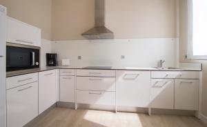 A kitchen or kitchenette at RuralSuite Hotel Apartamentos