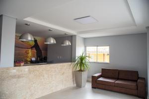 The lobby or reception area at Plattinum Hotel