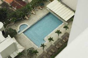 A view of the pool at Sparks Luxe Jakarta or nearby