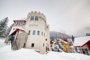 House of Dracula Hotel during the winter