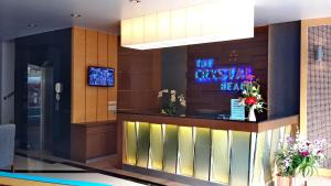 The lobby or reception area at The Crystal Beach Hotel