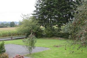 A garden outside The Magnolias B&B