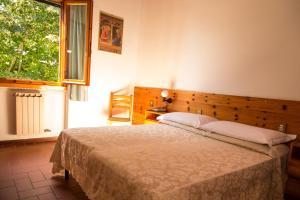 Cama o camas de una habitación en Hotel del Lago