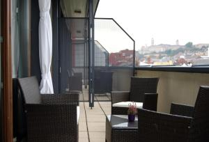 A balcony or terrace at Hotel Regnum Residence