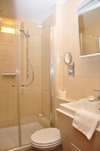 Ein Badezimmer in der Unterkunft Hotel Jägerklause