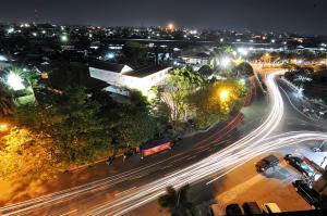 Pemandangan umum Solo atau pemandangan kota yang diambil dari hotel