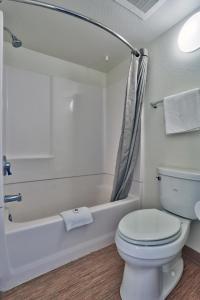 A bathroom at Motel 6-Kingman, AZ - Route 66 East