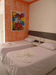 Cama o camas de una habitación en Pousada da Dinnda