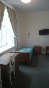 Łóżko lub łóżka w pokoju w obiekcie Willa Puławianka