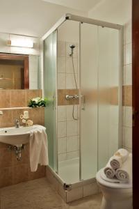 A bathroom at Hotel Rittinger