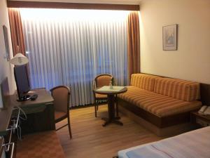Гостиная зона в Hotel Stadt Witzenhausen