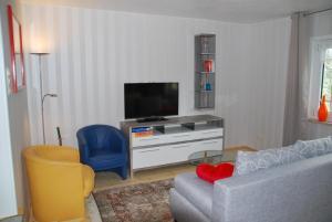 TV/Unterhaltungsangebot in der Unterkunft Ferienwohnung Obermühle