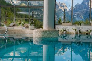 The swimming pool at or near Bio Hotel Hermitage