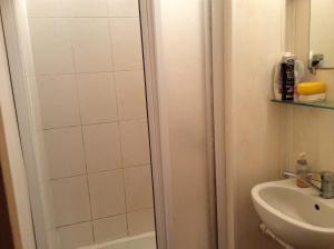 A bathroom at Jaunmārtiņi