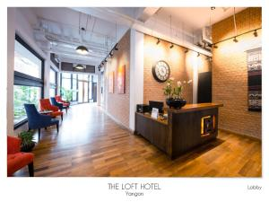 The lobby or reception area at The Loft Hotel Downtown Yangon