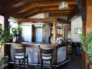 The lounge or bar area at Patagonia Queen Hotel Boutique