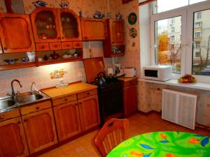 A kitchen or kitchenette at Rustaveli Apartments