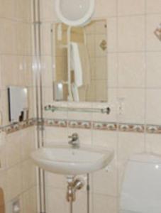 Ett badrum på Hotel Fritzatorpet